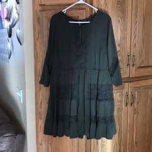 Torrid olive green dress